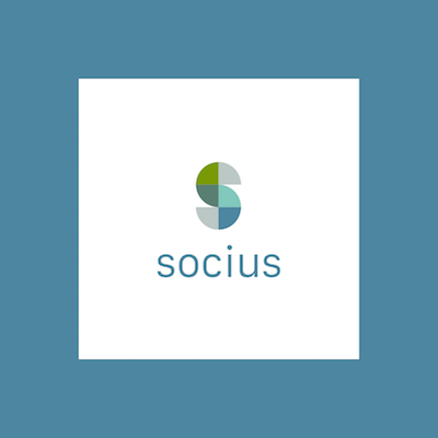 Socius Logo with Blue Square